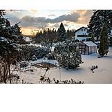 Garten, Winter