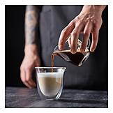 Zubereitung, Milchkaffee, Cappuccino