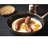 Fried Egg, Sausages, English Breakfast