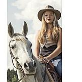 Reiterin, Westernreiten, Reitpferd