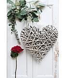 Heart, Valentine, Red Rose