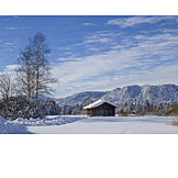 Winter, Wood Barn, Gaißacher Filze