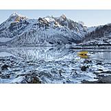Winter Landscape, Rowboat, Lofoten