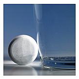 Tablette, Wasserglas