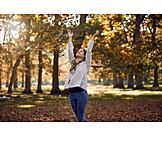 Woman, Autumn, Vitality