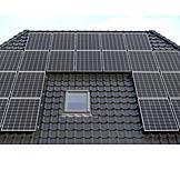 Solarzelle, Photovoltaikanlage, Solardach