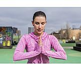 Relaxation, Yoga, Sportswoman