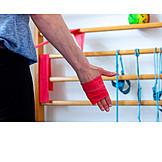 Muskelaufbau, Physiotherapie, Gymnastikband