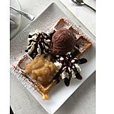 Dessert, Süßspeise, Waffel