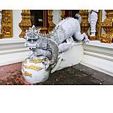 Buddhismus, Tempelfigur, Wat Buppharam