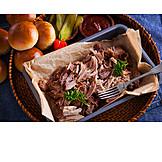 Schweinefleisch, Fleischgericht, Pulled Pork