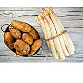 Kartoffeln, Zutaten, Weißer Spargel