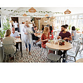 Blurred motion, Restaurant, Guest