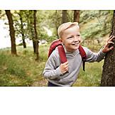 Boy, Nature, Hiking