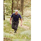 Active Seniors, Forest, Hiking