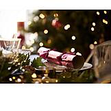 Christmas, Table Cover, Christmas Cracker
