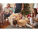 Children, Cuddle, Christmas Present