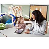 Bildung, Kindergarten, Tablet-pc