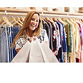 Happy, Fashion, Shopping Bag, Customer