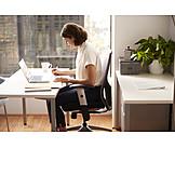 Geschäftsfrau, Büro, Büroarbeit