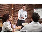 Meeting, Erklären, Präsentation