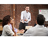 Meeting, Explaining, Presentation