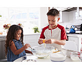 Baking, Together, Siblings