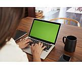 Copy Space, Typing, Laptop