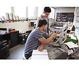 Forschung, Schüler, Robotik