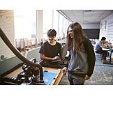 Forschung, Schüler, Maschinenbau
