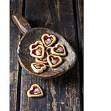 Gebäck, Kekse, Pariser Herzen