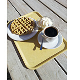 Coffee, Coffee Cup, Waffle