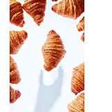 Shadow, Hand, Croissant, Reaching