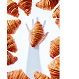 Shadow, Hand, Croissant, Reaching