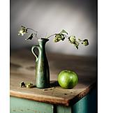 Apple, Vase, Still Life