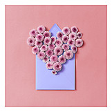 Heart, Valentine, Flower Arrangement