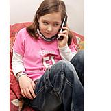 Girl, Telephone, Listening