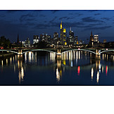 Skyline, Frankfurt, Main Bridge