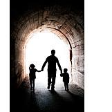 Vater, Kinder, Alleinerziehend