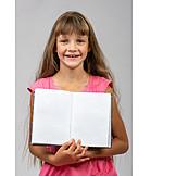 Teenager, Mädchen, Schule, Bildung, Schülerin, Schulbuch