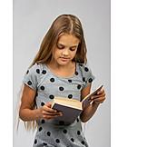 Teenager, Mädchen, Bildung, Lesen, Literatur