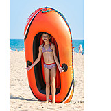 Children, Rubber Boat, Beach Holiday, Beach Holiday