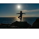 Sea, Balance, Yoga