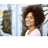 Portrait, Young Woman, Curls