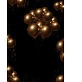 Party, Golden, Luftballons