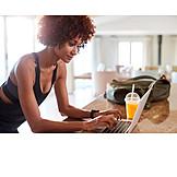 Typing, Laptop, Blogger