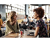 Café, Kommunikation, Freundinnen