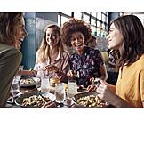 Restaurant, Freundinnen, Mittagessen
