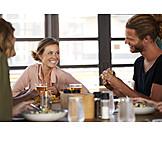 Kommunikation, Restaurant, Mittagessen