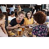 Kommunikation, Freunde, Mittagessen